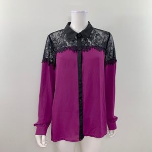 Metaphor Women's Size Large Button Down Blouse